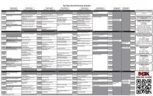 2018 NDK Schedule